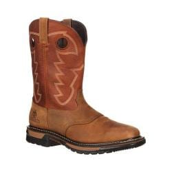Men's Rocky 11in Western Saddle Original Ride Sq. Toe RKYW039 Tan/Ochre