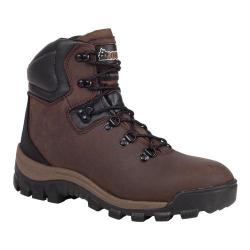 Women's Rocky 5in Core Durability Work Boot RK035 Darkwood Full Grain Leather