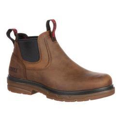 Men's Rocky Elements Shale Steel Toe Met-Guard Boot RKK0159 Brown Leather