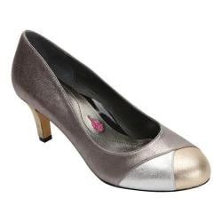 Women's Ros Hommerson Joyce Cap Toe Pump Pewter/Gold Metallic Multi Leather