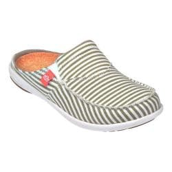 Women's Spenco Siesta Slide Montauk Khaki Washed Canvas