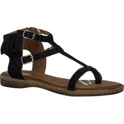 Women's Tamaris Weave Sandal Black Suede Leather