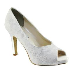 Women's Touch Ups Catalina II White Satin/Lace