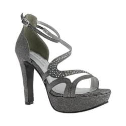 Women's Touch Ups Breeze Platform Sandal Pewter Sparkle
