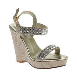 Women's Touch Ups Brynn Platform Wedge Gold Shimmer