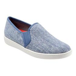 Women's Trotters Americana Slip On Blue Canvas