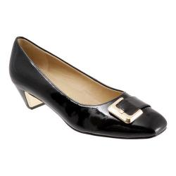 Women's Trotters Fancy Black Soft Patent Leather