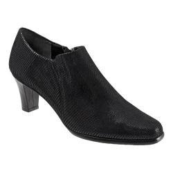 Women's Trotters Jolie Black Patent Suede Lizard Leather