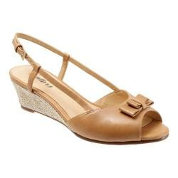 Women's Trotters Milly Sand Dull Leather/Raffia