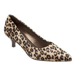 Women's Trotters Paulina Pump Dark Tan Leopard
