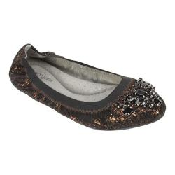 Women's White Mountain Carella Ballet Flat Black Leather