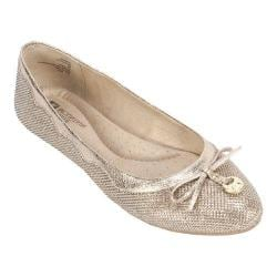 Women's White Mountain Cece Ballet Flat Gold Glitter