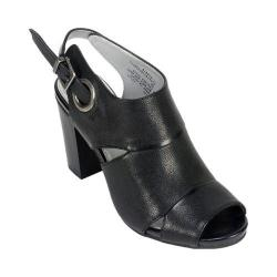 Women's White Mountain District Black Leather