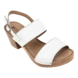 Women's White Mountain Motor Slingback Sandal White Leather