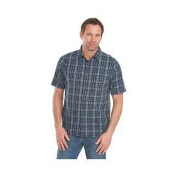 Men's Woolrich Overlook Dobby Modern Fit Plaid Shirt Deep Indigo