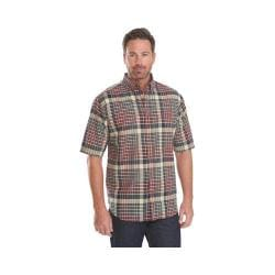 Men's Woolrich Timberline Plaid Shirt Deep Indigo Multi