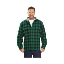 Men's Woolrich Wool Buffalo Shirt Forest Green