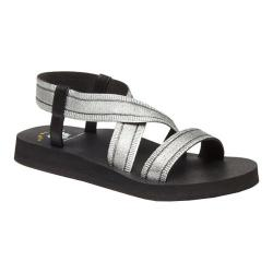 Women's Yellow Box Lynette Strappy Sandal Black Silver