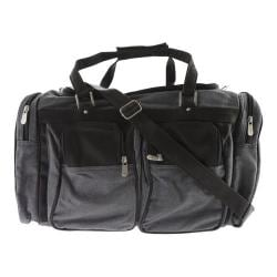 Piel Leather 20In Duffel Bag With Pockets 3038 Black