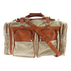Piel Leather 20In Duffel Bag With Pockets 3038 Saddle