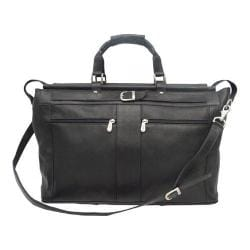 Piel Leather Carpet Bag with Pockets 9506 Black