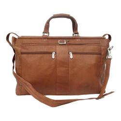 Piel Leather Carpet Bag with Pockets 9506 Saddle