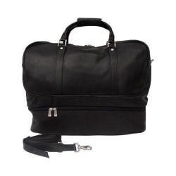 Piel Leather False Bottom Sports Bag 8965 Black