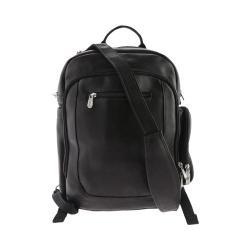 Piel Leather Laptop Backpack/Shoulder Bag 3056 Black