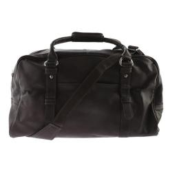 Piel Leather Large Top-Zip Duffel Bag 3078 Chocolate