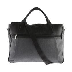 Piel Leather Slim Laptop Brief 3074 Black