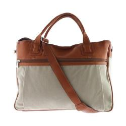 Piel Leather Slim Laptop Brief 3074 Saddle