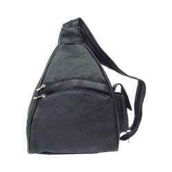 Piel Leather Two Pocket Sling 9932 Black