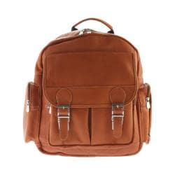 Piel Leather Ultimate Travelers Laptop Backpack 3049 Saddle