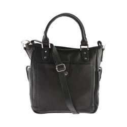 Women's Piel Leather Tablet Shoulder Bag/Cross Body 3047 Black