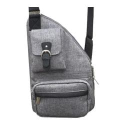 Women's The Sacs Collection Mini Metro Expandable Cross Body Bag Charcoal