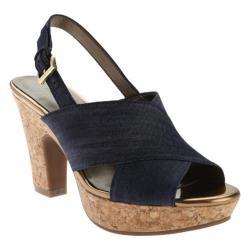 Women's Bandolino Mopina Slingback Sandal Navy Fabric