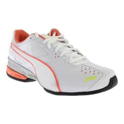 Women's PUMA Tazon 6 Running Shoe White/Fluo Peach/Safety Yellow