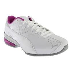 Women's PUMA Tazon 6 Running Shoe White/Puma Silver/Purple Cactus Flower