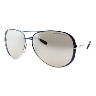 Michael Kors Womens Chelsea MK 5004 101545 Shiny Navy And Silver Fade Metal Aviator Sunglasses