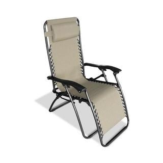 Caravan Canopy Beige Zero-Gravity Chair (As Is Item)