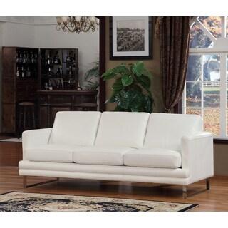 Lazzaro Leather Melbourne White Sofa