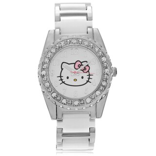 Hello Kitty Women's Hello Kitty Rhinestone Link Watch