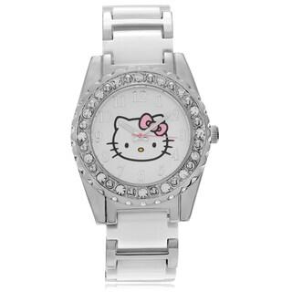 Hello Kitty Women's Hello Kitty Rhinestone Link Watch