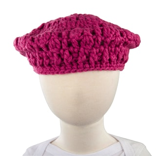 Crummy Bunny Fuchsia Beret Toddler Hat