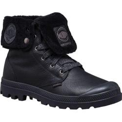 Men's Palladium Baggy Leather Gusset Shearling Boot Black