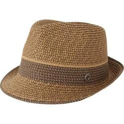 Men's Ben Sherman Multi-Stripe Straw Trilby Brown