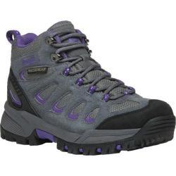 Women's Propet Ridge Walker Hiking Boot Grey Purple Suede/Mesh