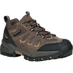 Men's Propet Ridge Walker Low Hiking Shoe Brown Suede/Mesh
