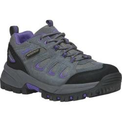 Women's Propet Ridge Walker Low Hiking Shoe Grey Purple Suede/Mesh