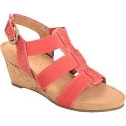 Women's Aerosoles Lightscape Wedge Sandal Coral Snake Faux Leather/Elastic